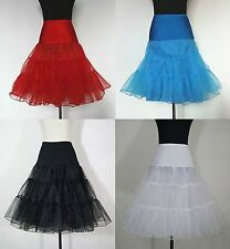 New Red Black White Tulle Hoopless Wedding Bridal Petticoat Crinoline Underskirt