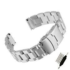 18 20 22 24mm HIGH QUALITY HEAVY SOLID 316L STAINLESS STEEL Watch BANDS Bracelet
