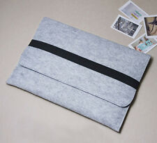 "New Woolen Felt Sleeve Case Pouch 11""13""15"" Laptop Bag Cover For Macbook Pro Air"
