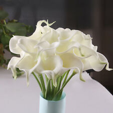 6 Head Calla Lily Bridal Wedding Bouquet Latex Real Touch Flower Bouquets 8Color