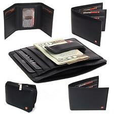 Men's Wallets Alpine Swiss Genuine Leather Money Clips Bifold Trifold Card Case