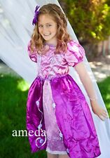 NEW Gorgeous Girls Rapunzel Tangled Princess Party Dress Costume 2-8Y