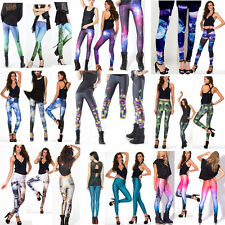 Comfy Punk S/M,L/Xl Bones/King Tut/Candy/Cherry Printed Pants Black Leggings