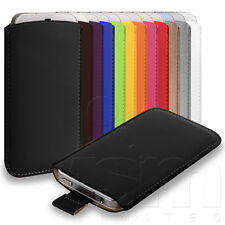 CUSTOM FITTED PU LEATHER POUCH CASE FOR ALCATEL ONE TOUCH T'POP - ALL COLOURS