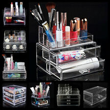 Acrylic Clear Cosmetic Make Up Case Lipstick Liner Brush Holder Organizer Drawer