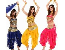 Fashion Belly Dance Indian Dance Costumes Coat Pants Waist Chain Women Clothing