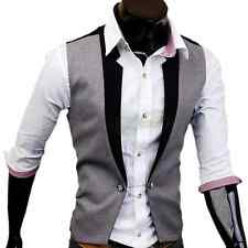 New Fashion Casual Top V-neck Slim Fit Vest Men's Waistcoat Skinny 2 Color Sexy