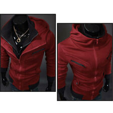 New Men's Stylish Casual Slim Fit Zip-Up Hoodies Coats Jackets 4 Color M-XXL
