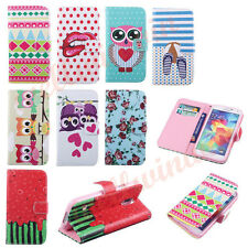 PU Leather Holder Wallet Flip Case Stand Card Pouch For Samsung S5 S4 S4 Mini