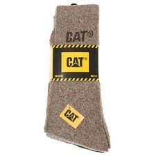 New Mens Caterpillar Brown 3 Pack Boot Socks Cotton/Polyester