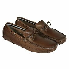 Clarks Mens Circuit Pic Tan  Leather Casual Dress Slip On Boat Shoes Shoes