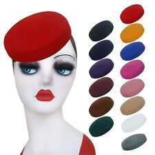 Circle Wool Felt Pillbox Beret Hat Millinery Fascinator Base Cocktail Party A215