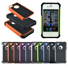 NEW SHOCK PROOF CASE COVER FOR APPLE IPHONE 4 4S Heavy Duty