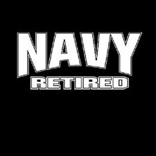 NWOT UNITED STATES  ARMED FORCES NAVY RETIRED LOGO T-SHIRT UNISEX