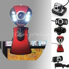 USB HD Video Webcam Camera Web Cam with Mic Microphone for PC Laptop Win 7 8 XP