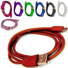 COLOURED USB CHARGING/SYNC CHARGER CABLE LEAD WIRE FOR BLACKBERRY 9720 SAMOA