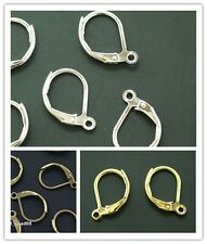 Wholesale 50pcs Silver/Gold/Bronze Plated Beads Earring Hooks Jewelry Making