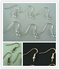 Wholesale 200pcs Silver Plated/Gold Plated Earring Hooks Jewelry Findings 20mm