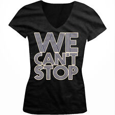 We Cant Stop Lyrics Miley Cyrus Party Swag Twerking Music Juniors V-neck T-shirt