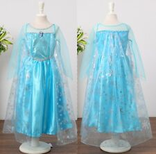 New Frozen Princess Elsa Disney Costume Girls Holiday Dress Size 3 4 5 6 7 8