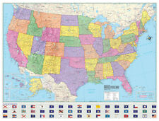 Political United States-US-USA Wall Map Laminated Large Mural Art Poster Print
