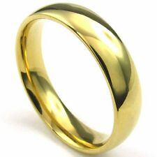 Classic Finishi Yellow Gold Filled Womens/Mens Band Ring SZ 6-11#D1942-D1947