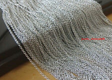 5M/10M In Bulk Jewelry Finding Thin 1.8mm Rolo Link Chain Stainless steel Silver