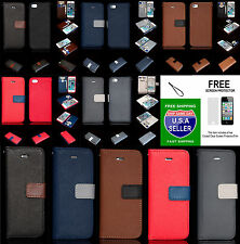 Iphone 5 - 5s  Rugged Wallet Case Magnetic Cover With Free Screen Protector