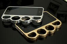 New Metal Aluminium gloves Lord Rings Knuckles Bumper Case Cover For iPhone 5 5S