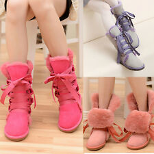 2014 Winter Wool Boots Lace-up Snow Boots Round Toe Faux Fur Fashion Joker Boots