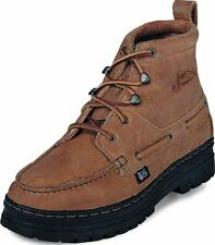 MENS JUSTIN COPPER GRIZZLY CHUKKA CASUAL WESTERN BOOTS! STYLE 995-ANKLE LACE UP