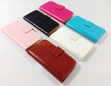 luxury Wallet PU leather Cover Case SKIN For lenovo SAMSUNG HUAWEI BLACKBERRY