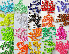 100PCS 8MM Loose Acrylic Solid Round Ball Beads Plastic Spacer Chunky Beads