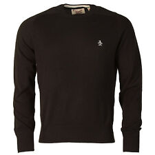 Mens Original Penguin Crew Neck Jumper In Black From Get The Label