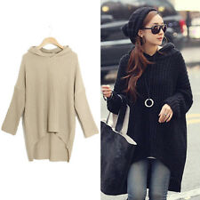 Women Girl New Long sections loose knit sweater coat Autumn Outwear Tops XD0014