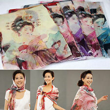 New Year Christmas presents Soft Long beauty Chiffon pattern Scarf wrap shawl