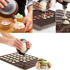 New Silicone Pastry Macaron Baking Mould Sheet Mat Decorating Pen +4 Nozzles