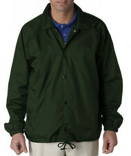 UltraClub Men's Nylon Coaches Plain Jacket 8944