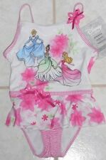 GIRLS DISNEY STORE SIZES 2/3 OR 4 GLITTERY PRINCESS ONE PIECE SWIMSUIT NWT