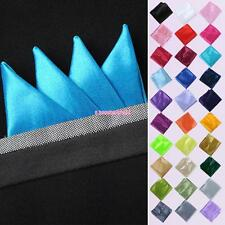 New Men Decent Pure Color Wedding Napkin Silk Handkerchiefs Hanky Square Pocket