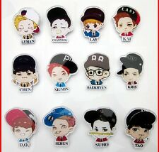 EXO Badge Kpop SM TOWN LUHAN Chan Yeol Cartoon Cute Brooch