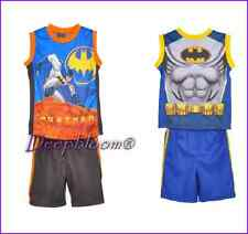 DISNET BATMAN OUTFIT SET 2 PCS BOYS SHORTS SHIRT SUPER HEROES SLEEVELESS NEW