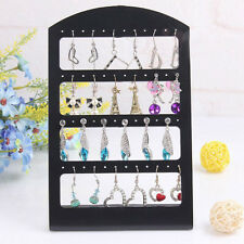 New Black Rack Plastic Display Stand Holder 24/48 Holes Earrings Ear Studs Show