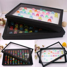 New 100 Slot Ear Ring Pin Show Box Organizer Holder Only Jewelry Display Case