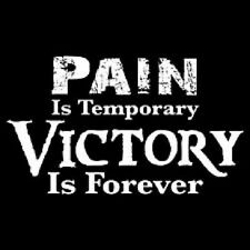 PAIN IS TEMPORARY VICTORY IS FOREVER T-SHIRT (UNISEX FIT) SPORTS WINNING