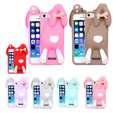 New 3D Cartoon Moschino rabbit Silicone Soft Cover Case for iPhone 4 4S 5 5S
