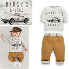2PCS Baby Kid Boys LONG SLEEVE Outfits Sets Shirt TOP Trousers Pants Tracksuit