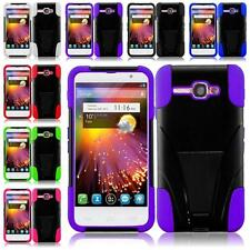 For Alcatel One Touch Sonic A851L Hybrid Armor T-STAND Cover Case + Screen Guard