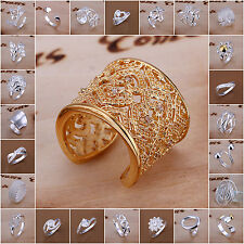 Mixed Design S925 Sterling Silver SP Ring Silver Jewelry