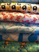 HANDMADE COTTON QUILTED WASHABLE BABY CHANGING PAD - VARIOUS DESIGNS NEW